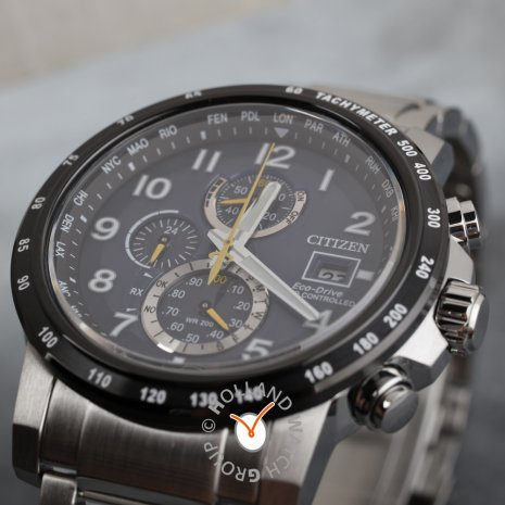 Radio controlled chrono with perpetual calender Fall Winter Collection Citizen