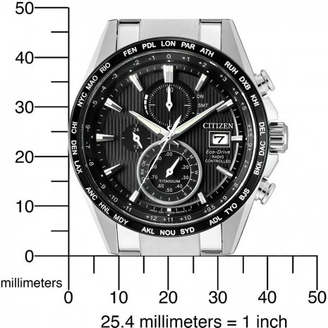 Titanium Radio Controlled Chronograph Solar World Timer Fall Winter Collection Citizen