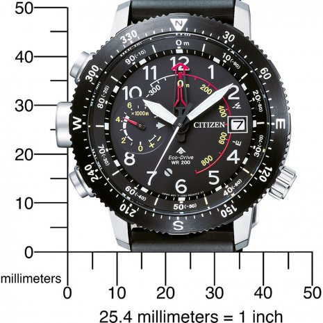 Black Eco-Drive Pilot Watch with Multichrono Fall Winter Collection Citizen