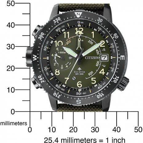 Green Eco-Drive Pilot Watch with Multichrono Fall Winter Collection Citizen