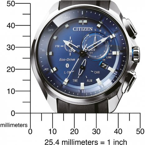Steel & Blue Bluetooth Connected watch with Day-Date Fall Winter Collection Citizen