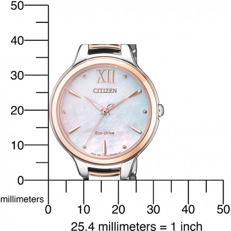 Solar Powered Elegant Ladies Watch with MOP dial Fall Winter Collection Citizen
