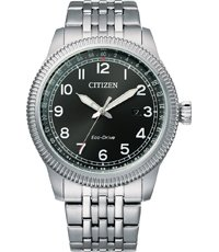 BM7480-81E Eco-Drive retro style watch 43mm