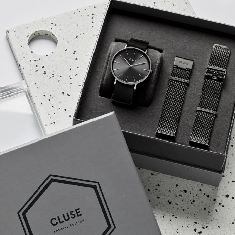 Gift Set Gents Quartz Watch with extra Mesh Strap Fall Winter Collection Cluse