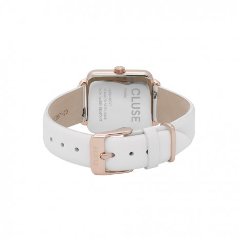 Square Ladies Quartz Watch on Leather Strap Spring Summer Collection Cluse