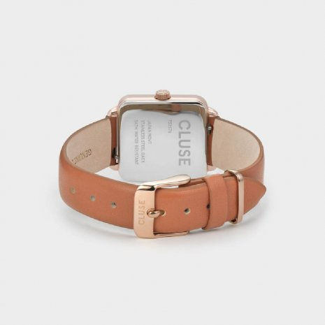 Square Ladies Quartz Watch on Leather Strap Fall Winter Collection Cluse