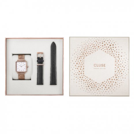 Gift Set Ladies Quartz Watch with extra Leather Strap 秋冬款式 Cluse