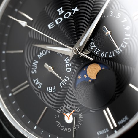 Moonphase watch with day-date  Edox