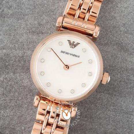 Rose gold toned ladies watch with MOP dial Spring Summer Collection Emporio Armani