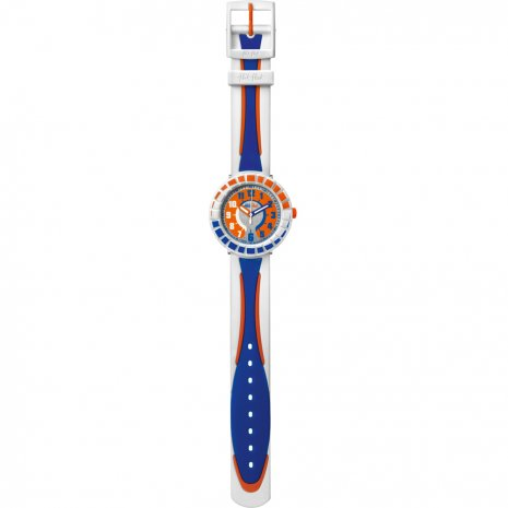 Flik Flak All Around Blue & Orange watch