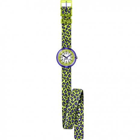 Flik Flak Green Jubatus watch