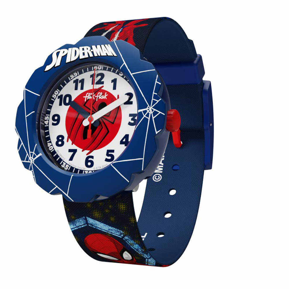 Flik flak flsp012 ff heroes watch spider man in action for Spiderman watches