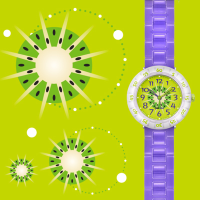 Flik Flak watch Purple