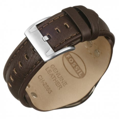 Steel & Brown Chrono with Date on Cuff Strap Collection Printemps-Eté Fossil