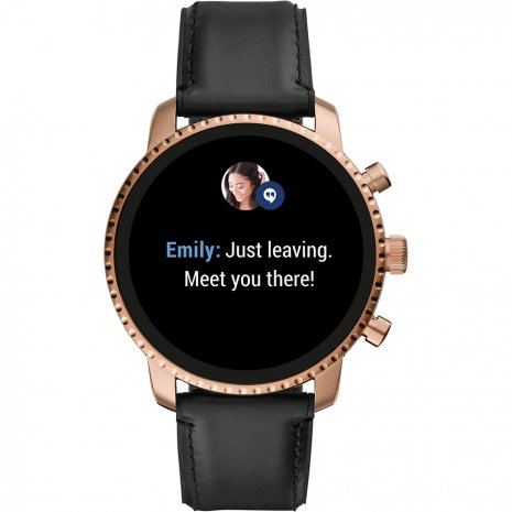 Touchscreen Smartwatch with Leather Strap - Gen4 Fall Winter Collection Fossil