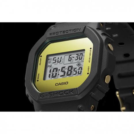 Black & Gold Square Digital G-Shock Watch Spring Summer Collection G-Shock