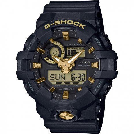G-Shock Black and Gold relógio