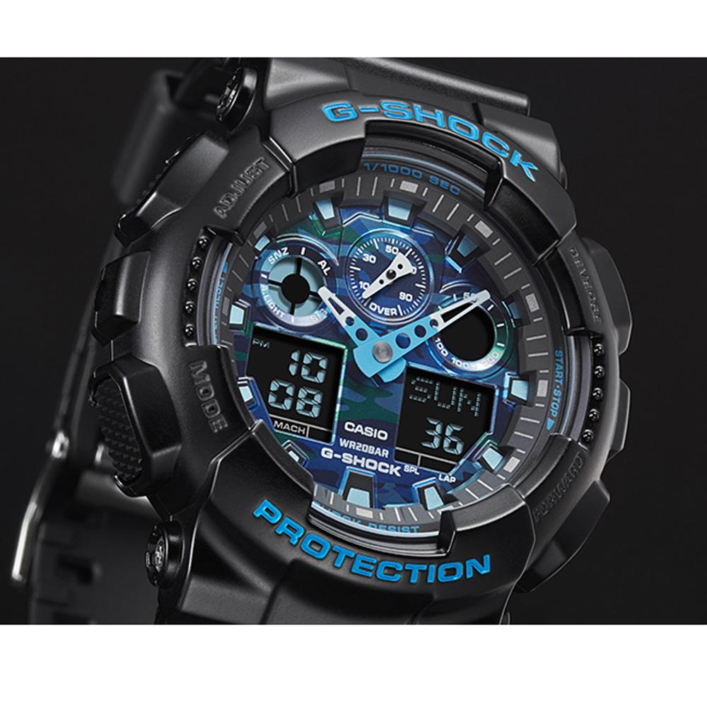 G Shock Ga 100cb 1aer Watch Cool Blue Casio 100l 1a Black Quartz