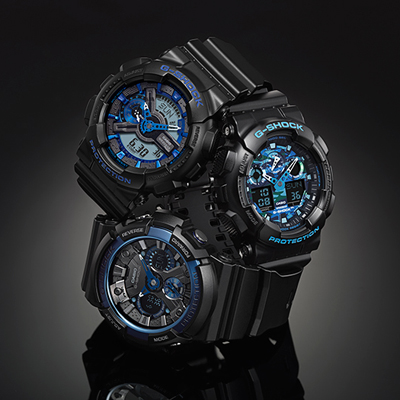 G-Shock watch blue