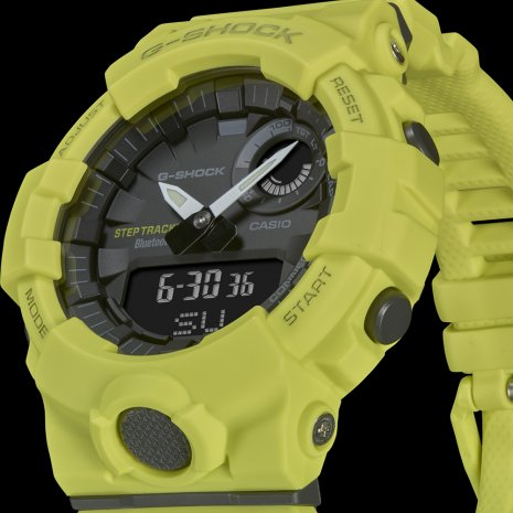 Fluorescent Yellow Watch with Smartphone Link Spring Summer Collection G-Shock