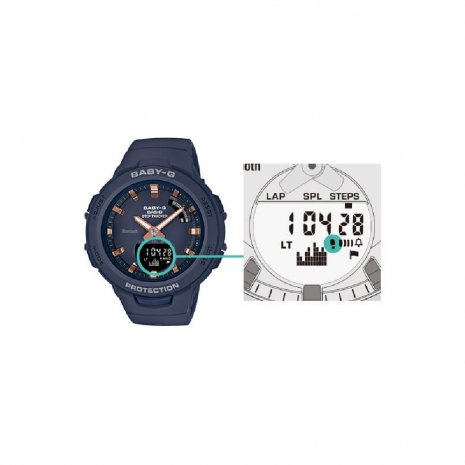 Step Counter Ladies Smartphone Link Functions Watch Fall Winter Collection G-Shock