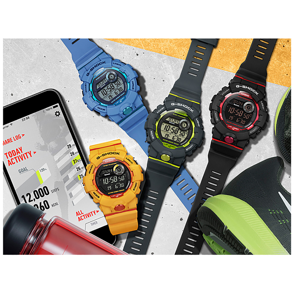 3906b2b55 Grey   Green Watch with Smartphone Link Fall Winter Collection G-Shock