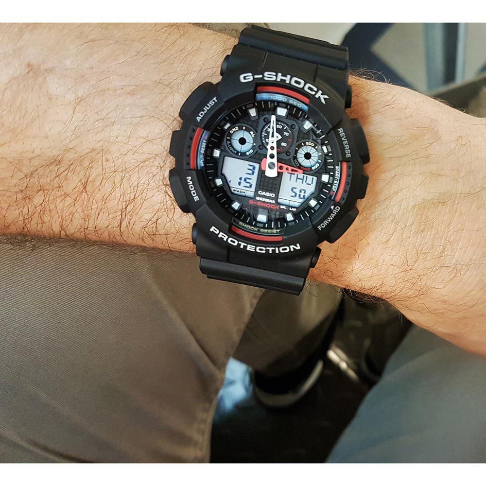 G Shock Zwart Met Rood.G Shock Ga 100 1a4er Watch Ga 100 1a4