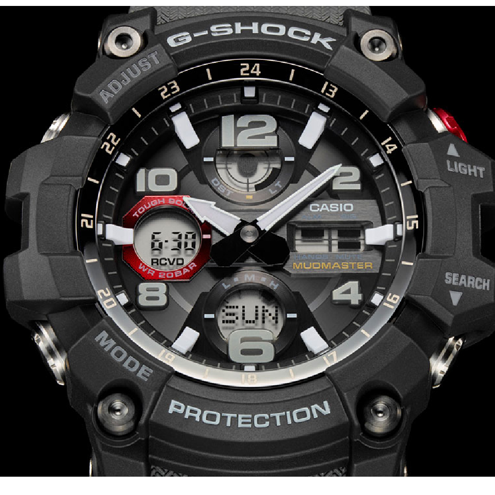G Shock Gwg 100 1a8er Watch Mudmaster Casio Gg 1000 1a Grey Black Solar