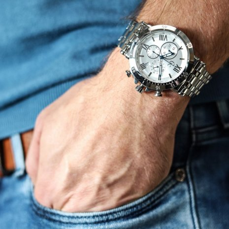 Steel gents quartz chronograph with date Fall Winter Collection GC
