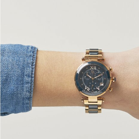 watch Rose Gold Quartz Chronograph