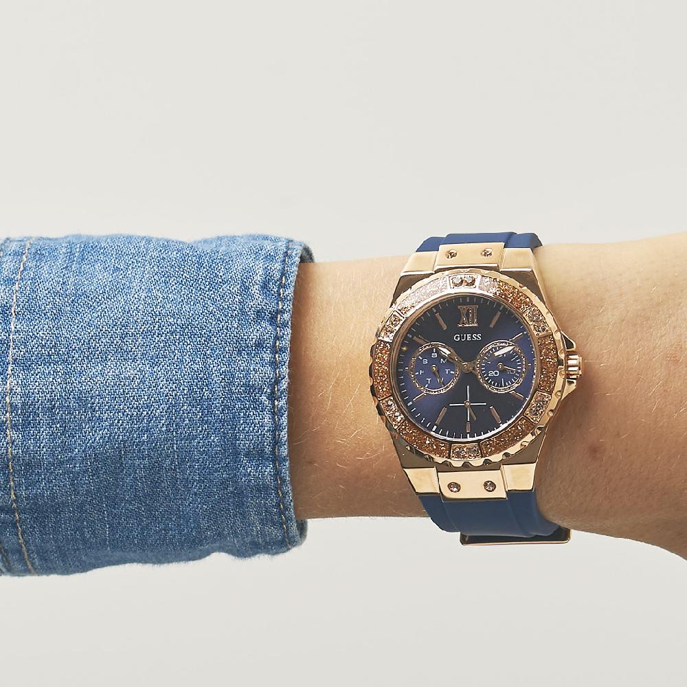 6fac996bb Guess watch blue. watch Rose Gold Quartz