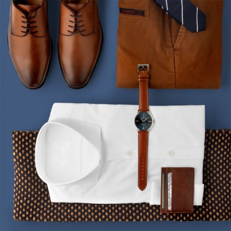 Blue & Brown Automatic Watch with Date Fall Winter Collection Hamilton