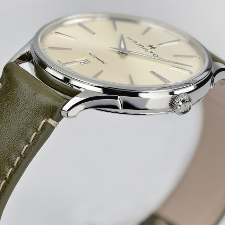 Gold & Green Automatic Watch With Date Fall Winter Collection Hamilton