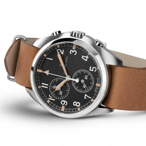 Quartz chronograph on leather NATO-strap Fall Winter Collection Hamilton