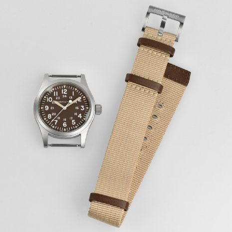 Silver & Brown Gents Mechanical Watch Spring Summer Collection Hamilton