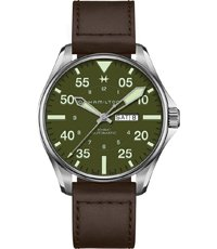 H64735561 Limited Edition Khaki Pilot Schott NYC 46mm
