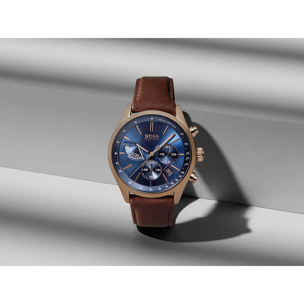 0297efa550b23 Hugo BOSS watch blue · watch Rose Gold Quartz Chronograph
