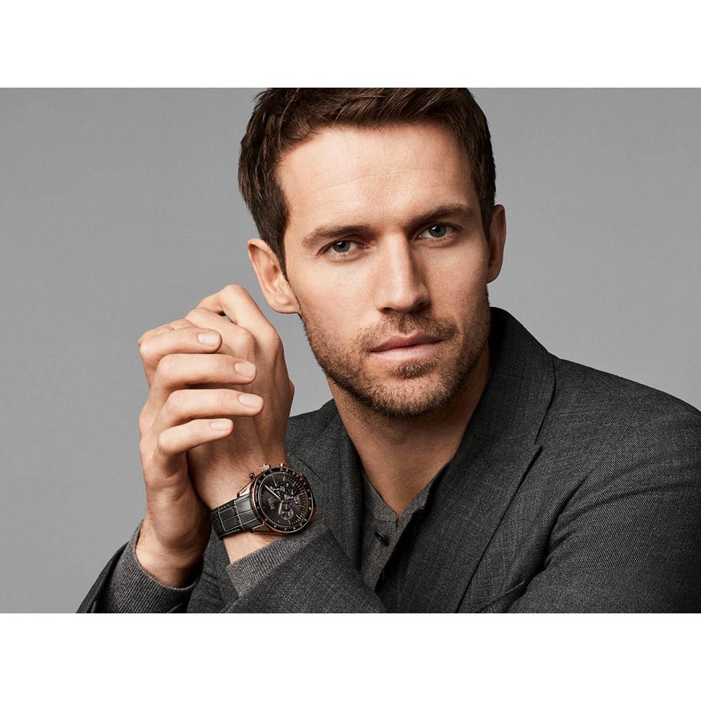 9412b5a5515 Hugo BOSS watch Anthracite · watch silver Quartz Chronograph