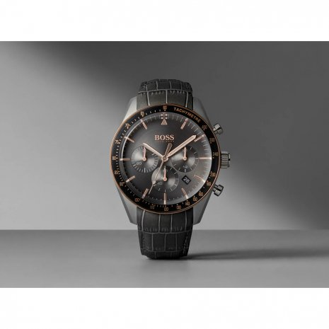 Grey Chronograph and Tachymeter Watch with Date Fall Winter Collection Hugo BOSS