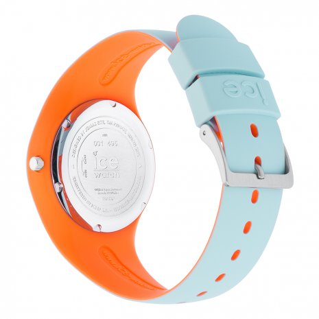 Blue & Orange Silicone Watch Size Medium Spring Summer Collection Ice-Watch