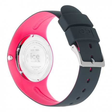 Anthracite & Pink Silicone Watch Size Medium Spring Summer Collection Ice-Watch