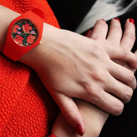 Red quartz watch size Small Spring Summer Collection Ice-Watch
