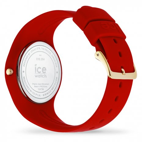 Red & Gold Silicone Watch size Medium Fall Winter Collection Ice-Watch
