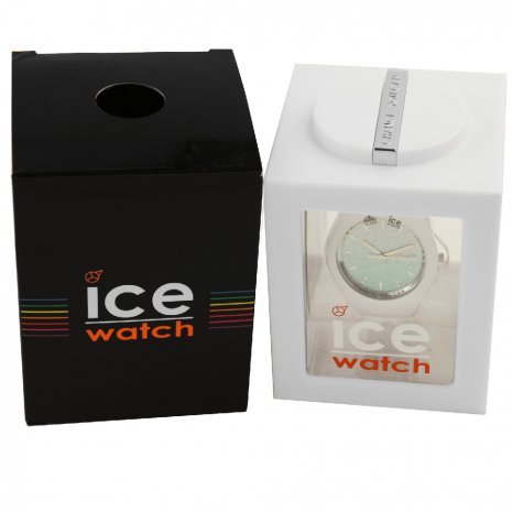 White Ladies Watch with Crystals Size Medium Spring Summer Collection Ice-Watch