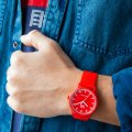 Red solar powered quartz watch Spring Summer Collection Ice-Watch