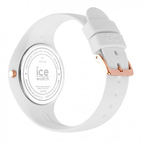 Rose Gold & White Silicone Watch Size Small Spring Summer Collection Ice-Watch