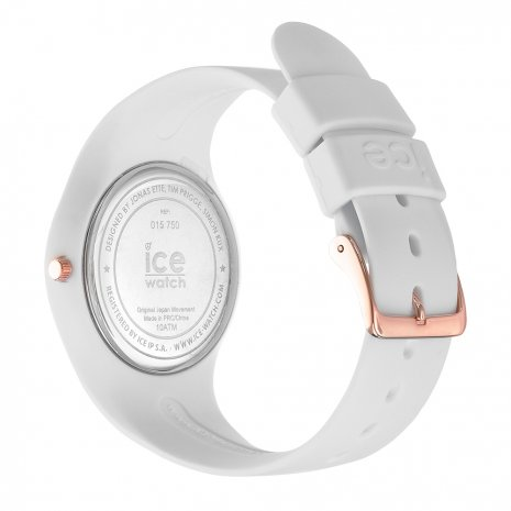 Rose Gold & White Silicone Watch Size Medium Spring Summer Collection Ice-Watch