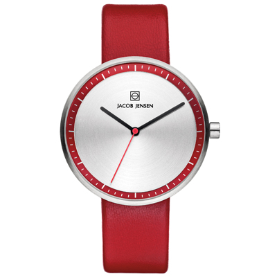 Jacob Jensen watch red
