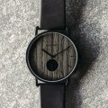 Black watch with wooden dial  Kerbholz