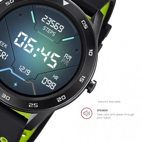 Black smartwatch with sports functions Spring Summer Collection Lotus